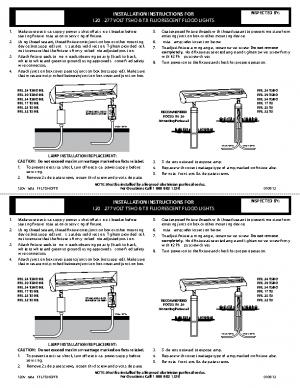 120v Install FFL T5HO-T8