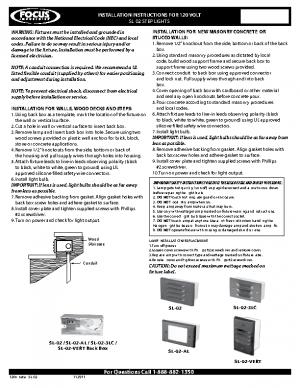 120v Install SL-02