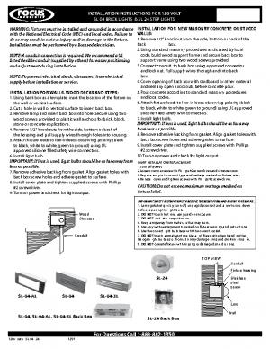 120v Install SL-04 -24