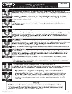 12v Install SL-01 -03 -20 -21