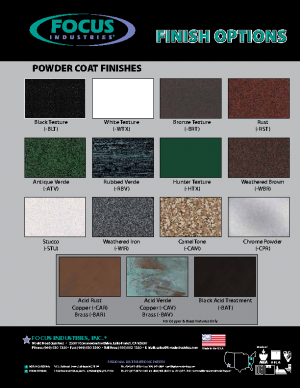 Focus Color Chip Chart
