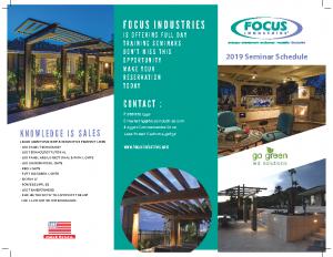 Seminar Brochure 2019