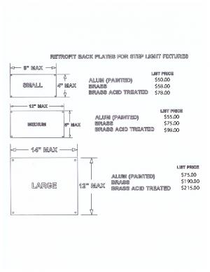 Custom Step Light Pricing